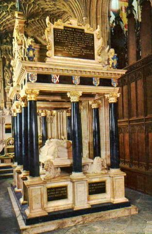 Queen Elizabeth I Tomb At Westminster Abbey
