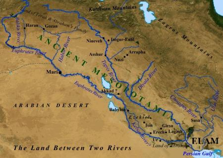Science for Kids Website on City Life - the Ancient ...  Tigris River Map Simple