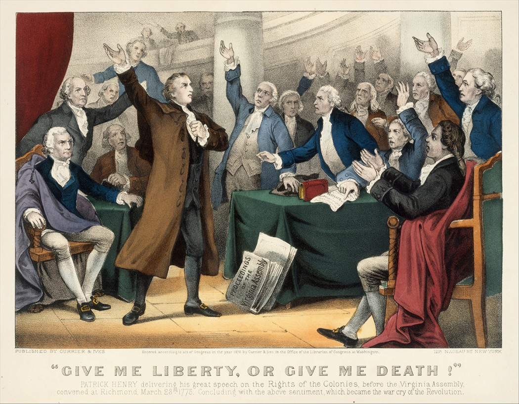 an analysis of the speech of patrick henry in 1775